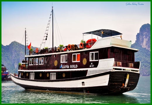 Halong Bay tour - Alova Gold junk cruise 3 days 2 nights
