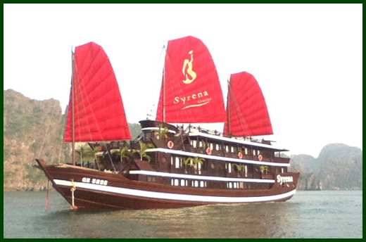 Halong Bay tour - Syrena junk cruise 2 days 1 night